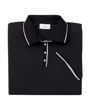 Ladies� Ultimate Fashion Polo - 100% ring-spun cotton.  Nostrink, no-fade fabric; no-curl collar; dyed-to-match collar and side vents with twill tape; topstitching on shoulders, armholes, and cuffs; side seams with gently contoured fit; classic tipped trim on collar and cuffs; four pearlized buttons.